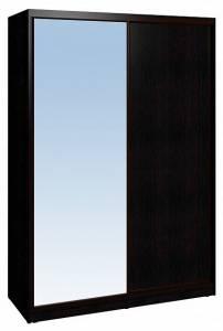 Шкаф-купе 1600 Домашний зеркало/лдсп + шлегель, Венге