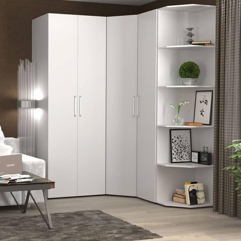 Монако 156 (спальня) Шкаф угловой,белый