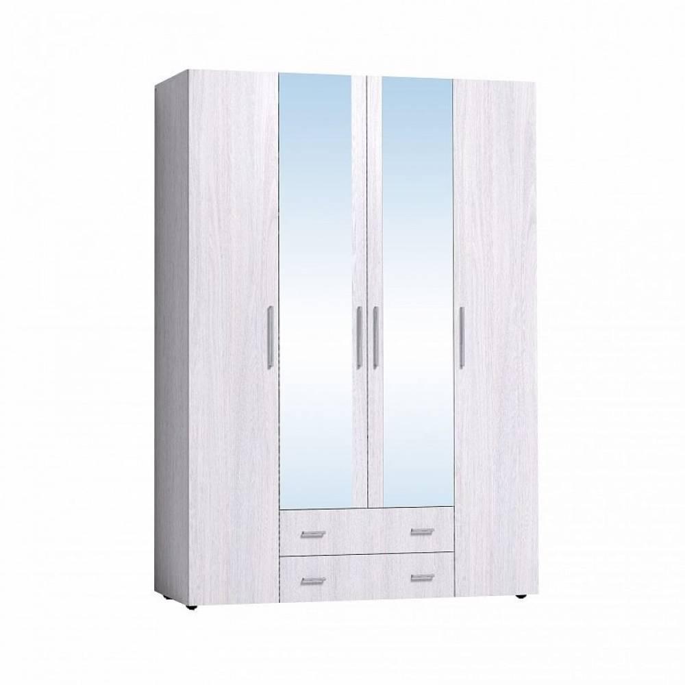 Монако 555 (спальня) Шкаф для одежды и белья, Белый