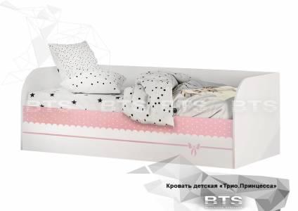 Трио Кровать детская (с подъёмным механизмом) КРП-01, белый/принцесса
