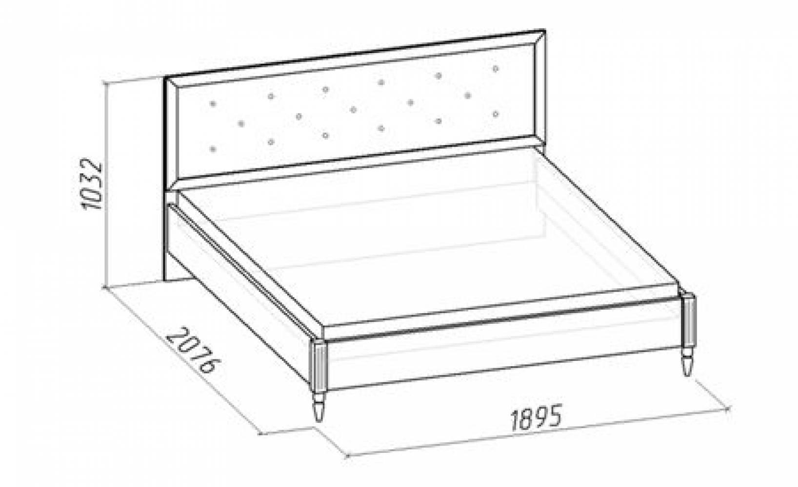 Кровать 1 на 180*200 MONTPELLIER