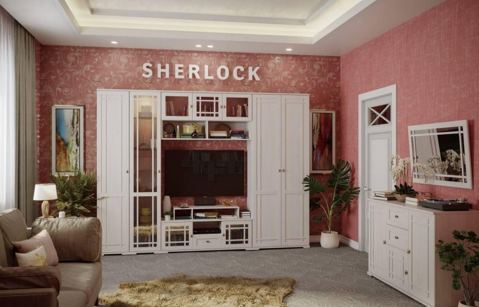 Гостиная Sherlock Ясень Анкор светлый, Комплект 2