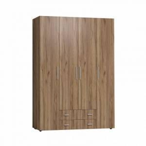 Монако 555 (спальня) Шкаф для одежды и белья Стандарт(глухие двери) (Дуб табачный Craft)