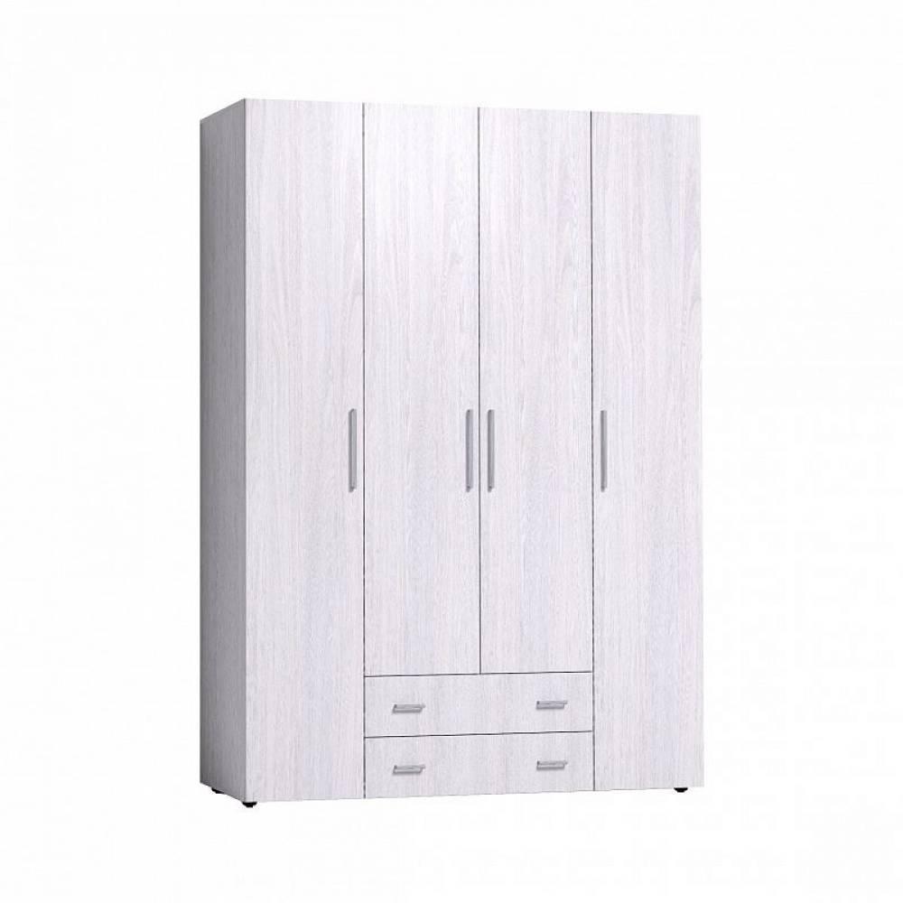 Монако 555 (спальня) Шкаф для одежды и белья Стандарт (Ясень Анкор светлый)