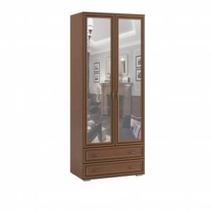 Шкаф двухстворчатый с зеркалом ЛШ-23, Ливорно, Орех донской