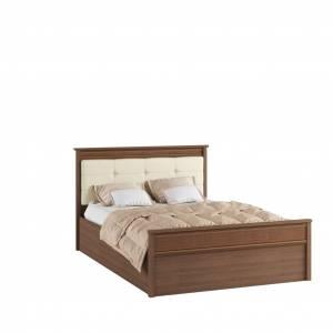 Кровать 1,4 м ЛКР-1 (1,4) с настилом, Ливорно, Орех донской
