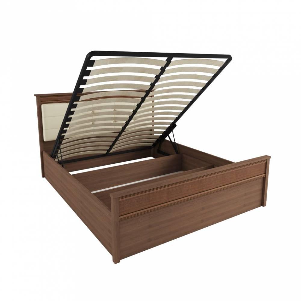 Корпус кровати 1,4 м ЛКР-1 (1,4), с подъемным механизмом, Ливорно, Орех донской