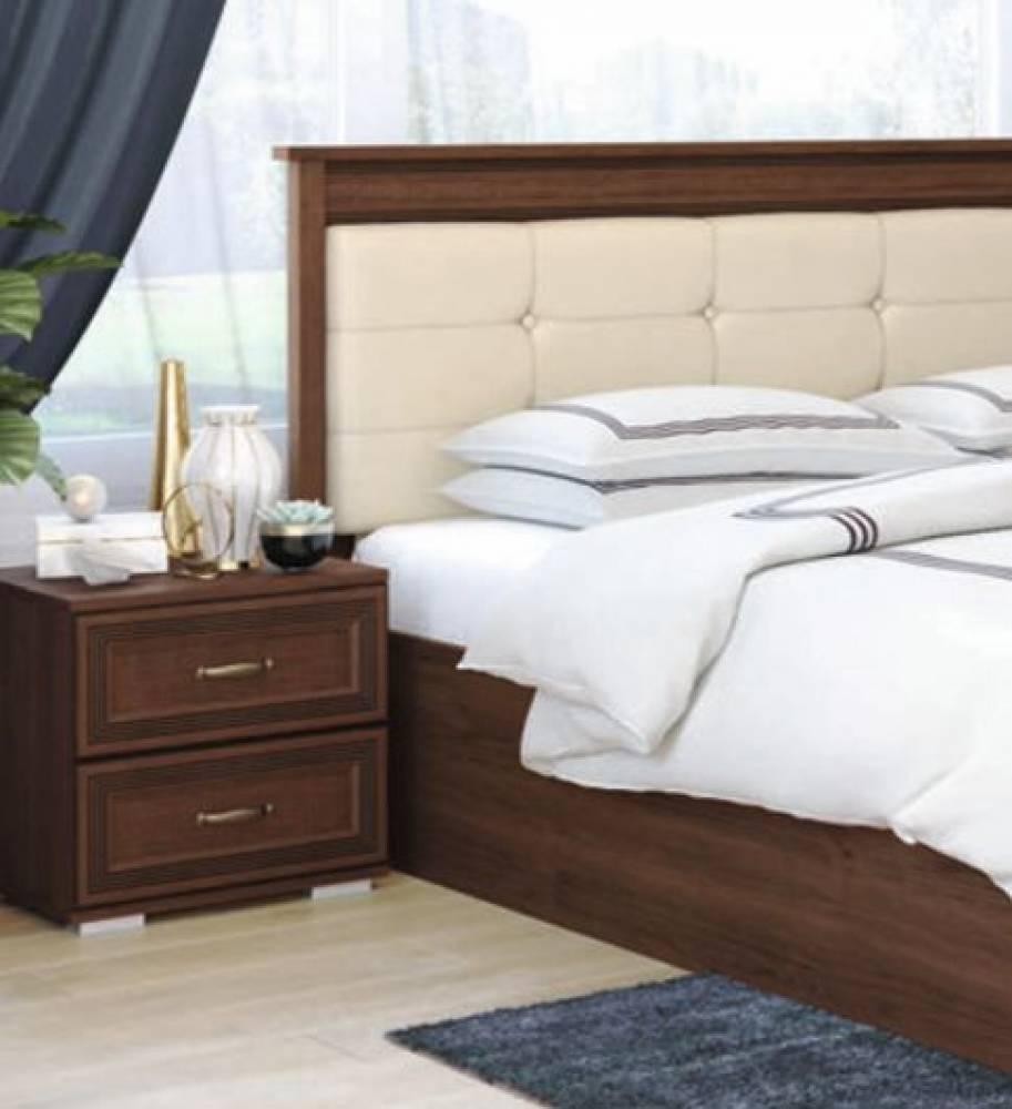 Кровать 1,6 м ЛКР-1 (1,6) с ортопедическим основанием, Ливорно, Орех донской