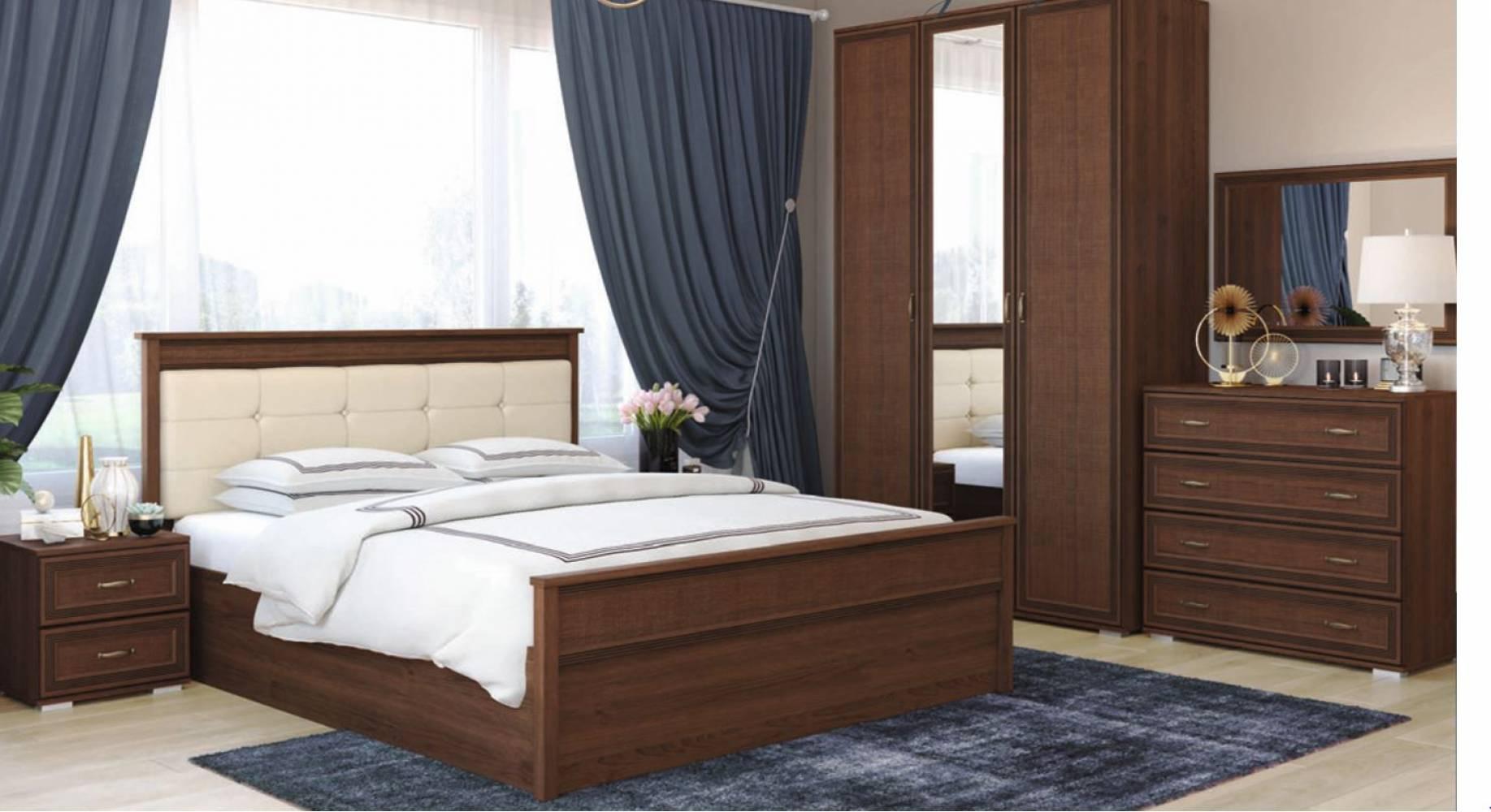 Спальня Ливорно, Орех донской, Комплект 1