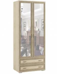 Шкаф двухстворчатый с зеркалом ЛШ-23, Ливорно, Дуб сонома