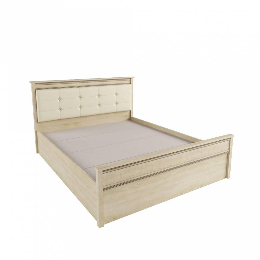 Кровать 1,6 м ЛКР-1 (1,6) с настилом, Ливорно, Дуб сонома