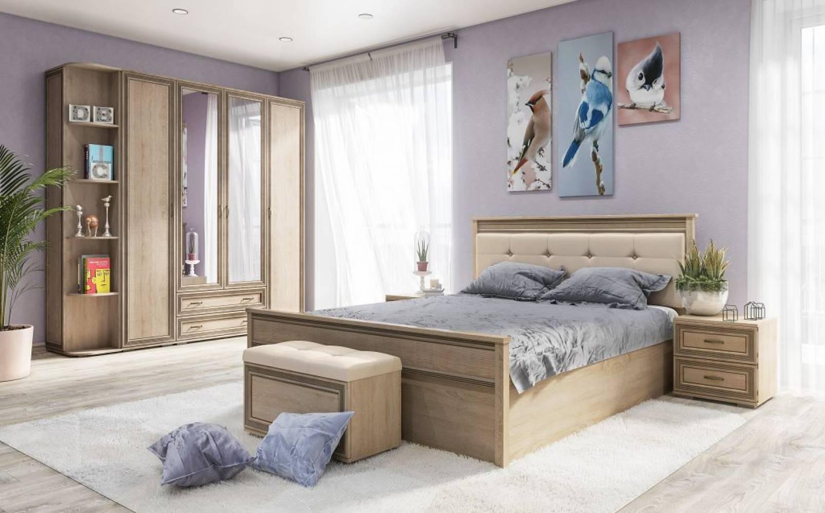Спальня Ливорно, Дуб сонома, Комплект 1
