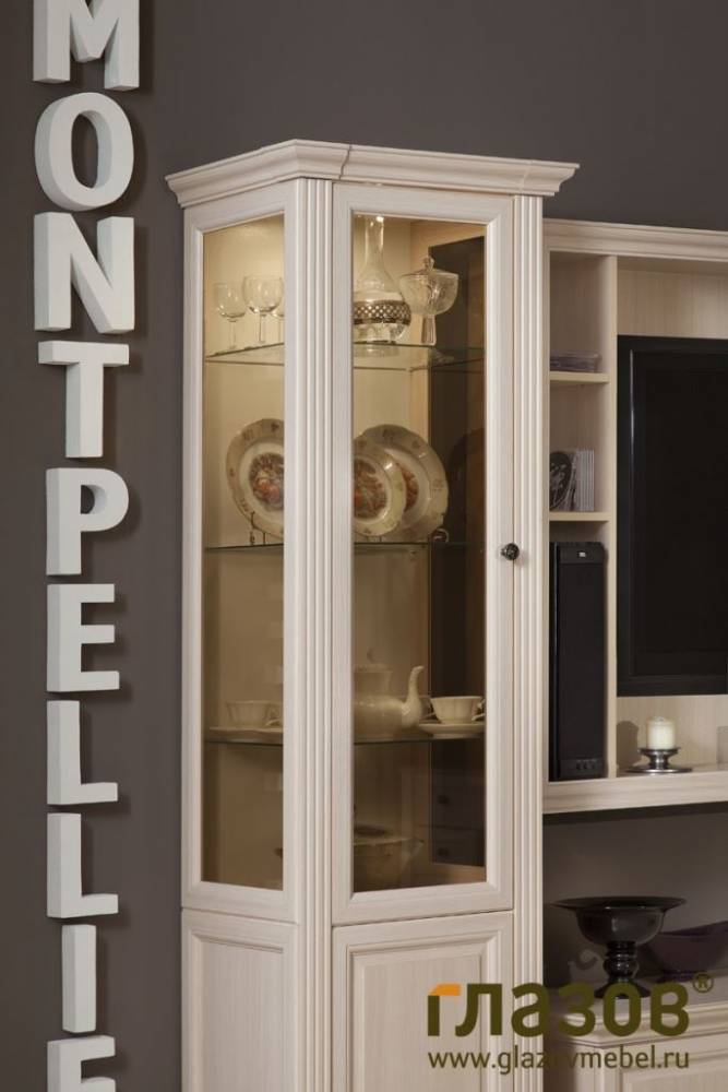 MONTPELLIER (гостиная) Шкаф для посуды 2, орех