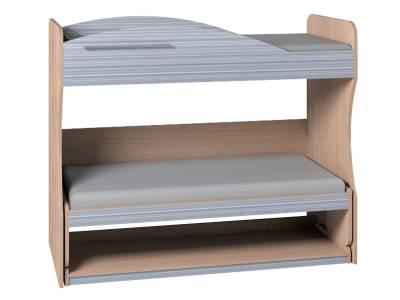 Кровать-трансформер 2 Калейдоскоп, Серая радуга