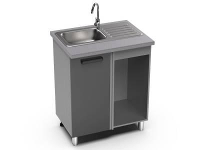 ШНУМ 1000 к прямому углу кухни (к столешнице 1000 мм) Крафт