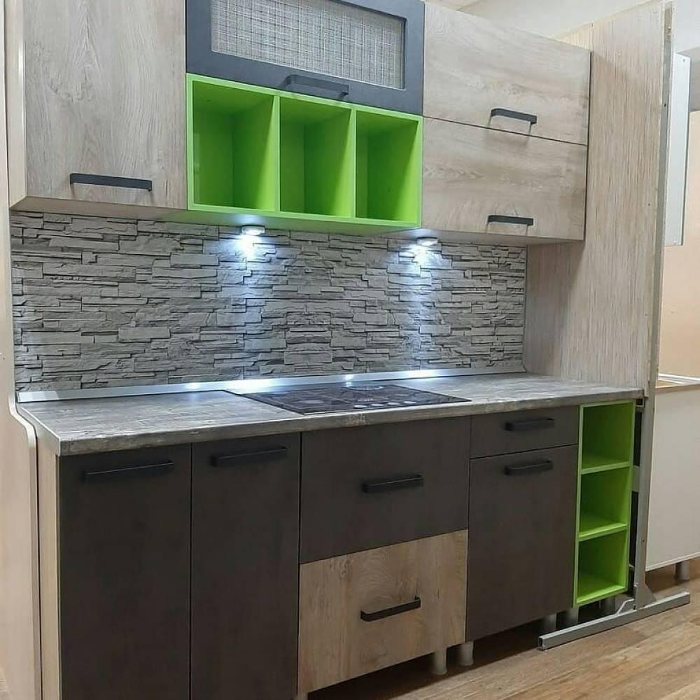 Кухня Крафт Комплект 5, бетон/дуб эндгрейн