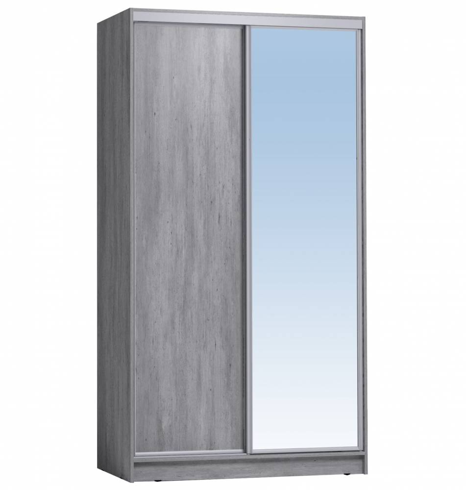 Шкаф-купе 1200 Домашний зеркало/лдсп, Atelier светлый