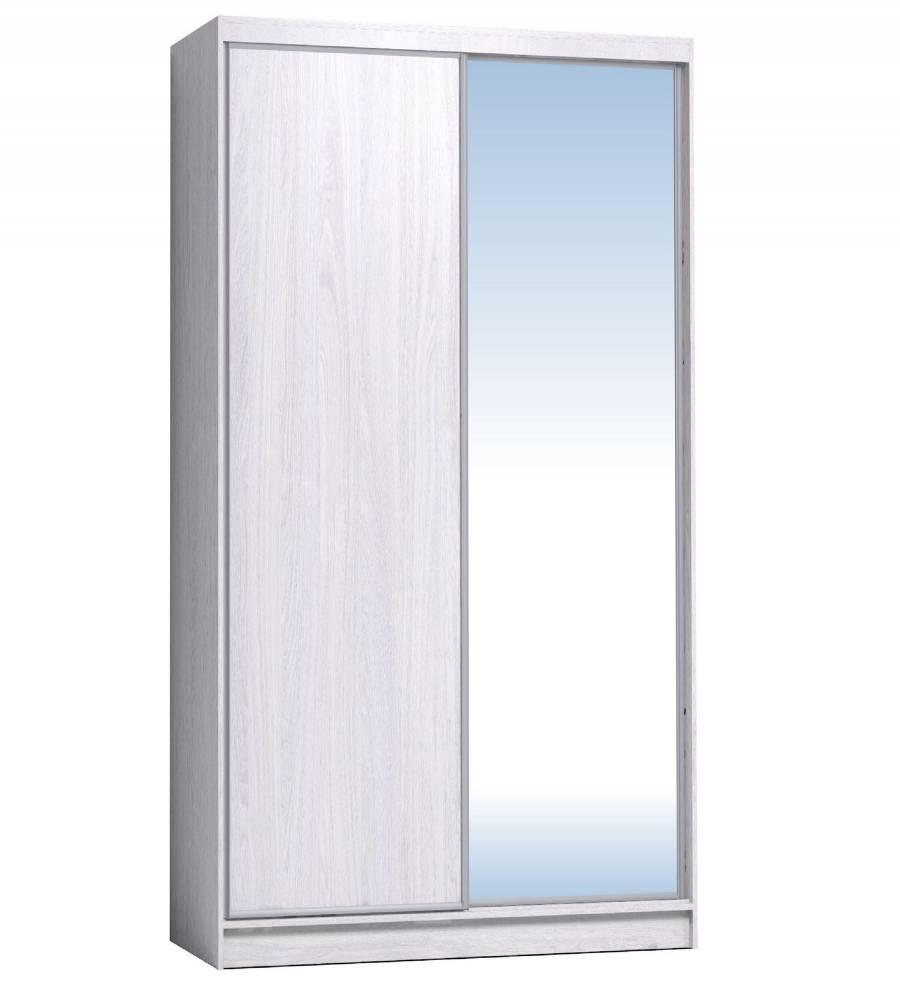 Шкаф-купе 1200 Домашний зеркало/лдсп, Ясень Анкор светлый