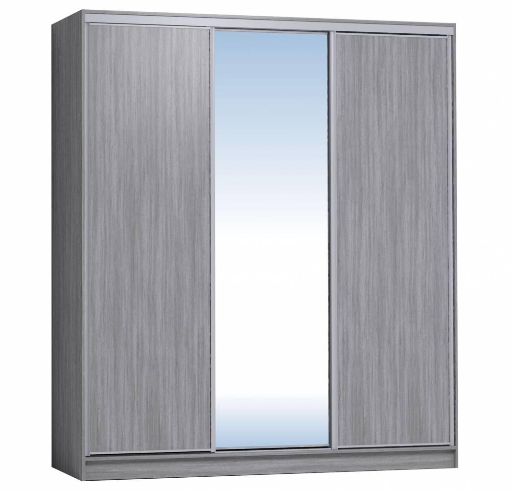 Шкаф-купе 2000 Домашний зеркало/лдсп + шлегель, Atelier светлый