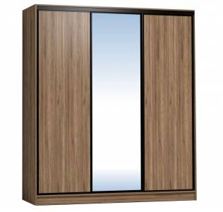 Шкаф-купе 2000 Домашний зеркало/лдсп + шлегель, Дуб табачный Craft