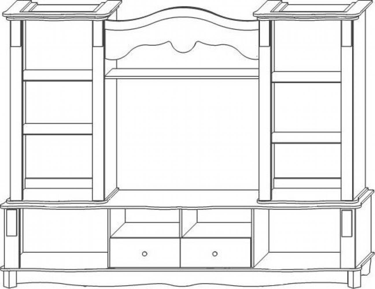 Версаль Шкаф комбинированный КМК 0436.1-01 Версаль Белый металлик