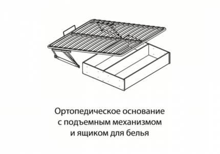 Основание для кровати 1,4 ортопед. подъемный механизм с ящиком