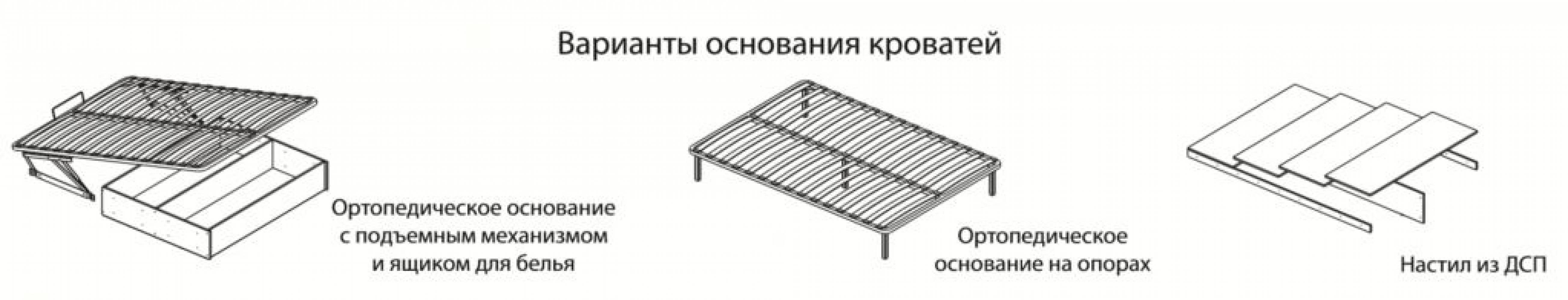 Корпус кровати 1,6 м РКР-1 Ричард, Ясень анкор светлый