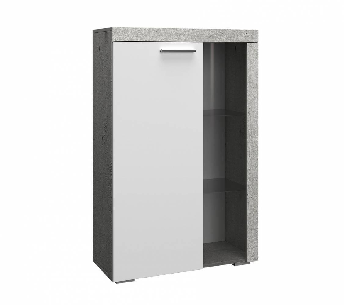 BEST мод.№2.2 Витрина малая (бетон/белый глянец)