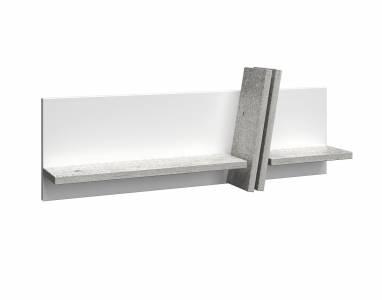 BEST  мод.№5.3 Полка универсальная (бетон/белый глянец)