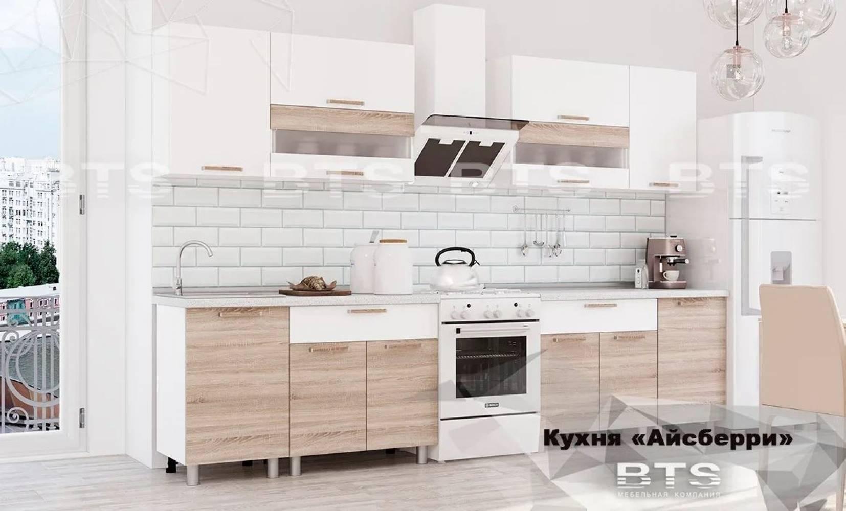 Кухня 2,4м Айсбери (белый/сонома)