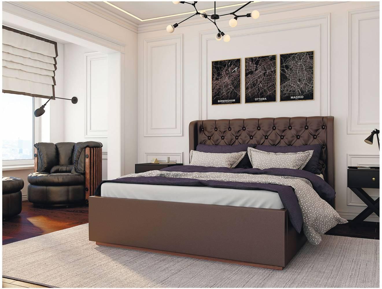 Кровать Франческа 1,6 под подъемный механизм, Шоколад