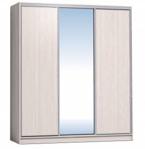 Шкаф-купе 2000 Домашний зеркало/лдсп + шлегель, Бодега светлый