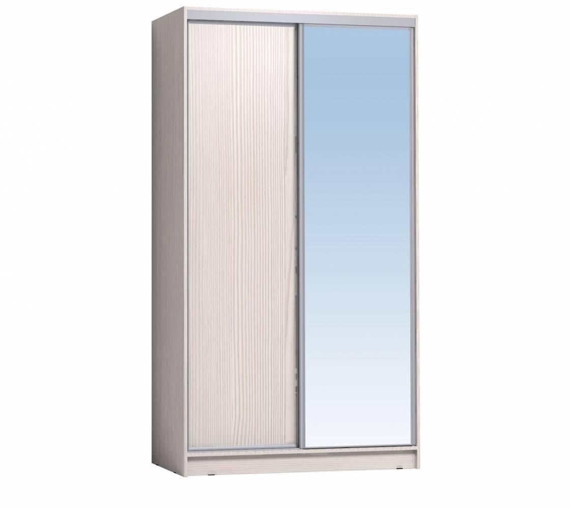 Шкаф-купе 1200 Домашний зеркало/лдсп, Бодега светлый
