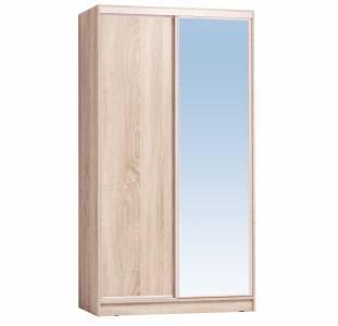 Шкаф-купе 1200 Домашний зеркало/лдсп, Дуб сонома