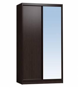 Шкаф-купе 1200 Домашний зеркало/лдсп, Венге