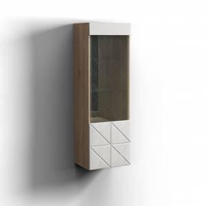 Шкаф навесной Левый Монако, дуб сонома/дуб полярный 0673.26