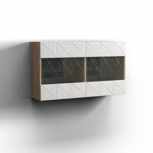 Шкаф навесной 2Д Монако, дуб сонома/дуб полярный 0673.28