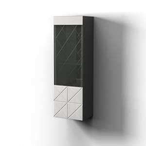 Шкаф навесной Правый Монако, Графит/белый глянец 0673.27