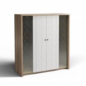 Шкаф комбинированный 4Д Монако КМК 0673.12, дуб сонома/Дуб полярный