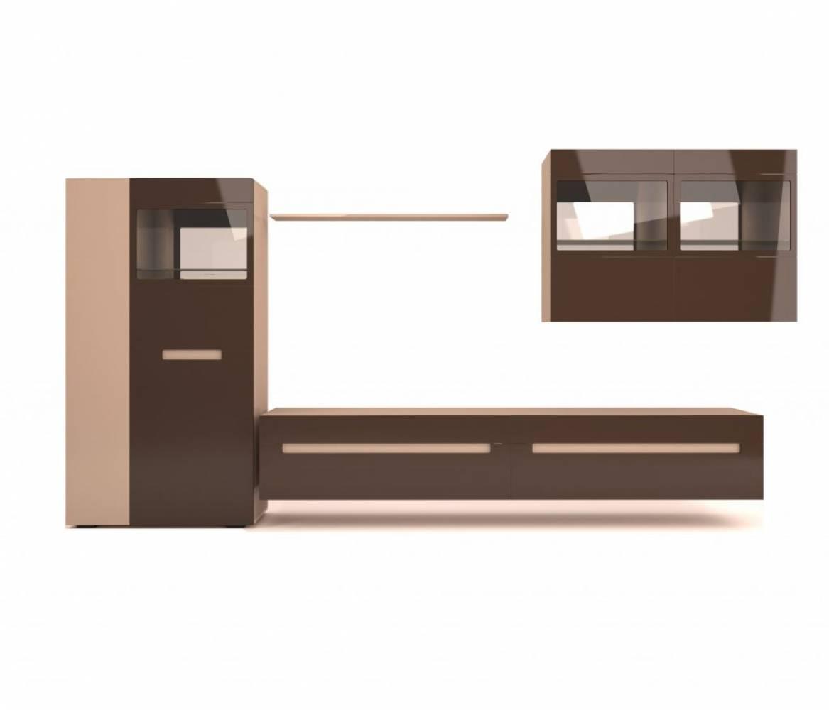 Шкаф комбинированный Арчи 1 КМК 0756, Дуб сонома/Капучино светлый