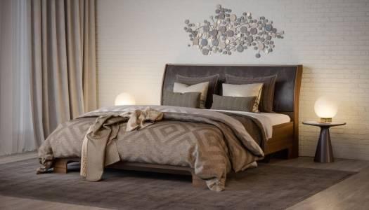 Кровать 1600-01 КМК 0685.1, орех донской/орех темный