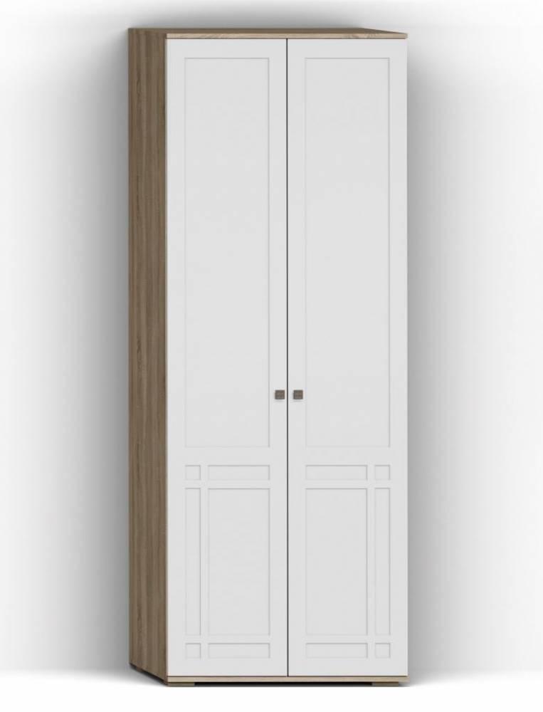 Шкаф для одежды 2Д Шарм КМК 0722.3, дуб сонома/белый глянец