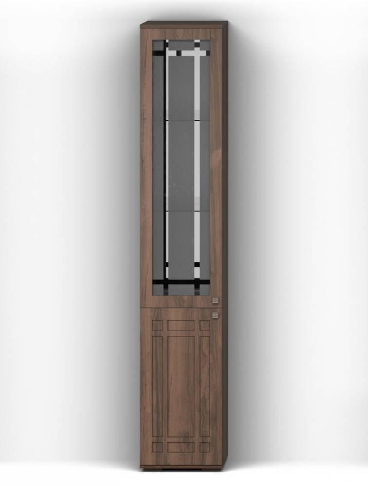 Шкаф с витриной Л (П) Шарм 1 КМК 0722.9 (10), орех донской/орех экко