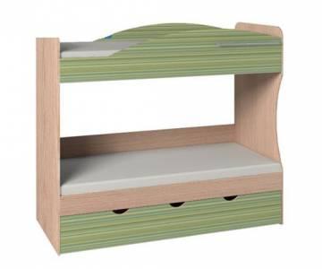 Кровать 2-х ярусная 6 Калейдоскоп Радуга зеленая