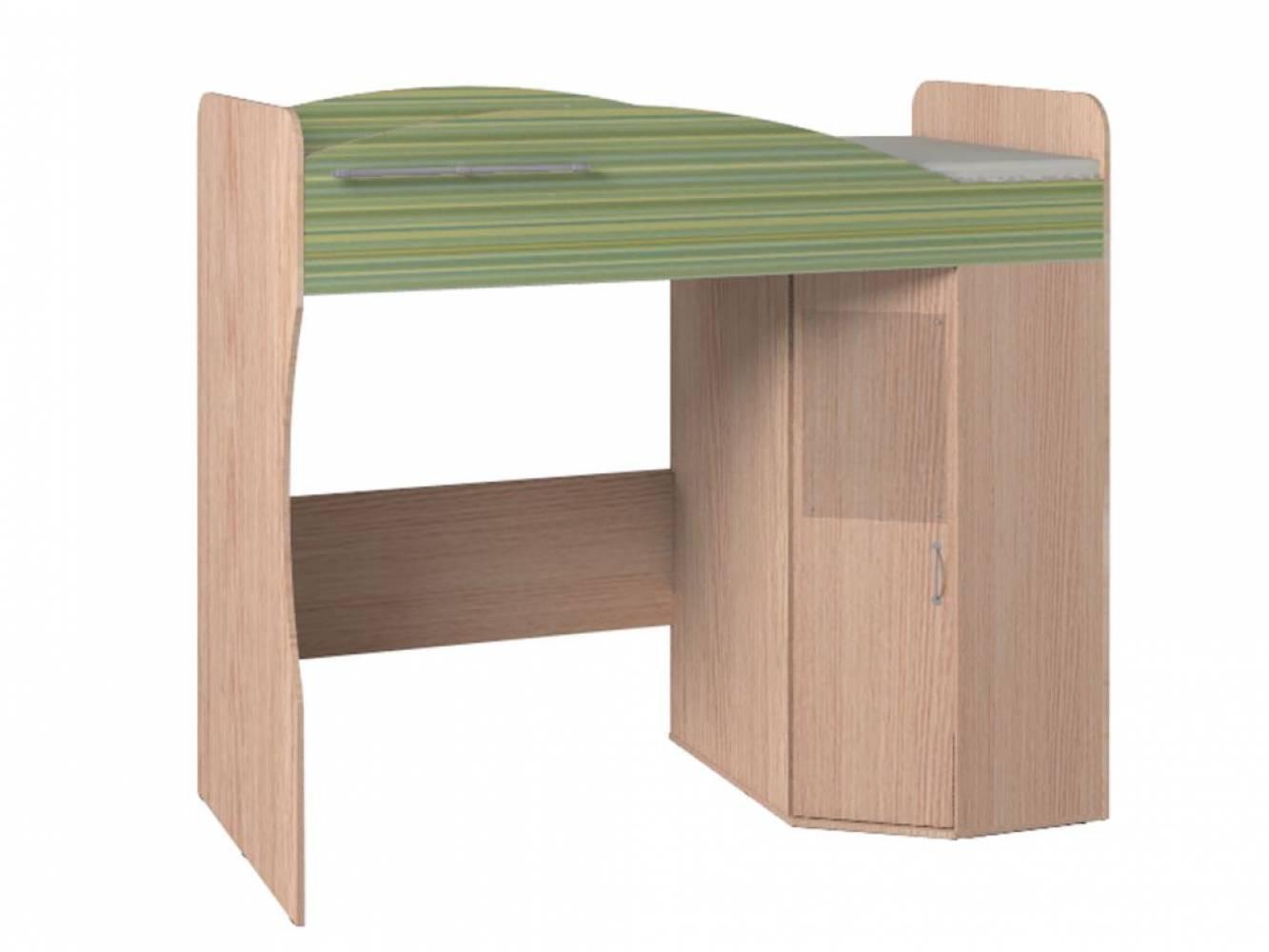 Кровать-чердак 7 Калейдоскоп Радуга зеленая