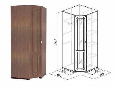 Sherlock10 Шкаф угловой Фасад стандарт