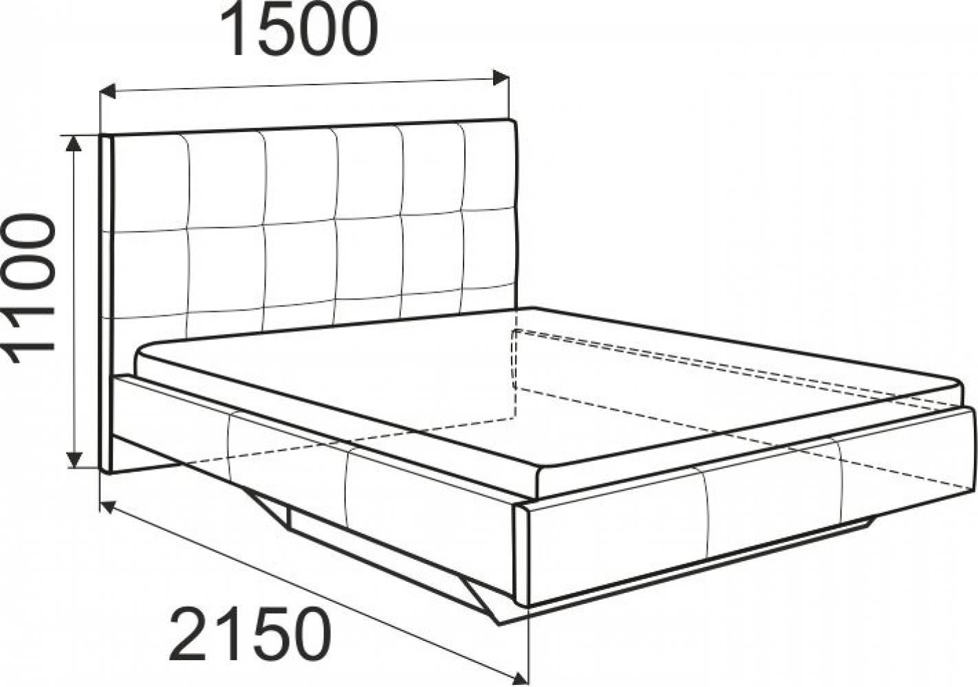 Сонум Кровать 1400 латы (Найс Вайт)