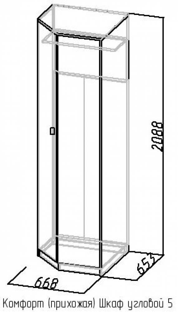 Шкаф угловой 5 Комфорт, Венге