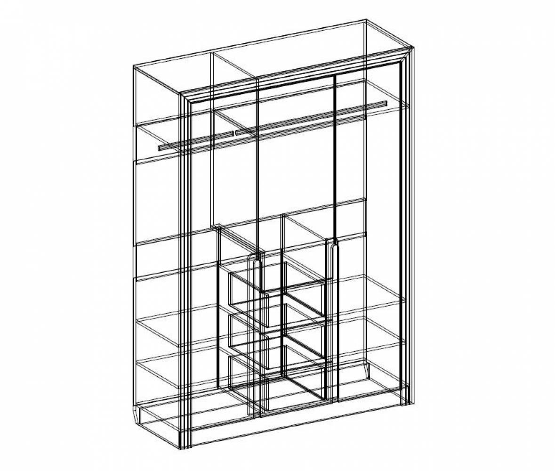 FAMILY 20 шкаф 3-дверный (комбинированный)