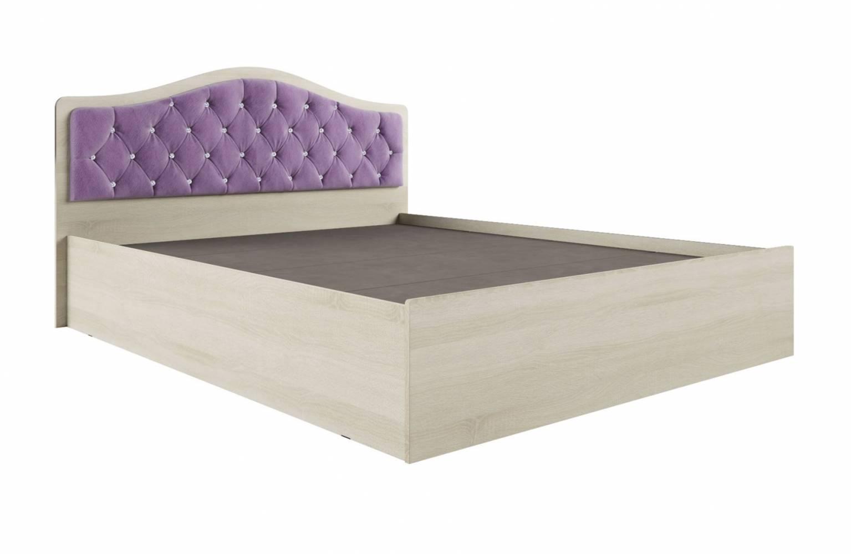 Кровать Дели каркас (1,6) велюр сирень со стразами